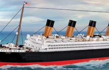 TITANIC BYGGMODELL LIMITED EDITION – 2840 BYGGKLOSSAR!